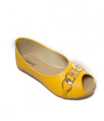 Yellow Casual Peeptoes Vjybl111yl