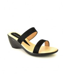 Black-Cream Formal/Evening Slippers