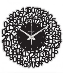 Random Web World Numeric Analog Wall Clock RC-0107-N-BLACK