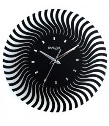 Random Web World Illusion Analog Wall Clock RC-0107-i-BLACK