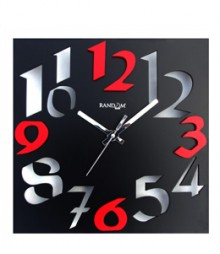 Random Time Zone Analog Wall Clock RC-0302-BLACK
