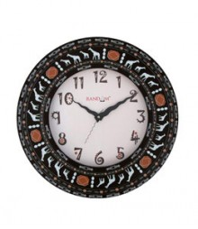 Random Aura Ethnic Analog Wall Clock RC-0305-E
