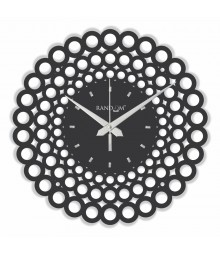 WEB WORLD SERIES Circle Analog Wall Clock RC-0307-C-BLACK