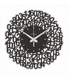 WEB WORLD SERIES Numeric Analog Wall Clock RC-0307-N-BLACK