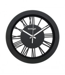 Random Sleek Roman Analog Wall Clock RC-0309-sleek-Roman-Black