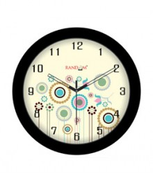 Random Sleek-Black Analog Wall Clock RC-0309 Sleek Black