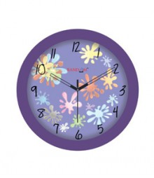 Random Sleek-Purple Analog Wall Clock RC-0309 SLEEK PURPLE