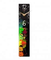 Random Vertical-Tribes Analog Wall Clock RC-0310-TRIBES