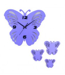 Random Butterfly Set Analog Wall Clock RC-0314-PURPLE