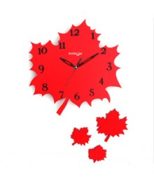 Random Autumn (Set) Analog Wall Clock RC-0316-RED