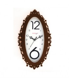 Random Ovi Brown Analog Wall Clock RC-0318-BROWN