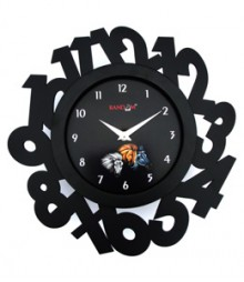 Random Eco Numbers Analog Wall Clock RC-0327-BLACK