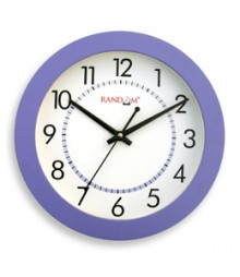 Random Trendy Stylo Analog Wall Clock RC-0329 PURPLE