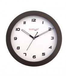 Random Sleek Stylo Analog Wall Clock RC-0330 Ch-Brown