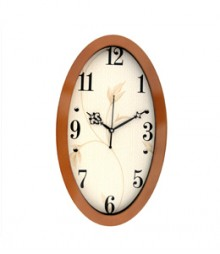 Random Oval Stylo Analog Wall Clock RC-0331 COPPER