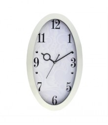 Random Oval Stylo Analog Wall Clock RC-0331 PEARL
