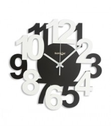 Random Bold & Beautiful Analog Wall Clock RC-0332-BROWN-WHITE