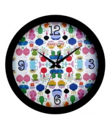 Random Series Merry Analog Wall Clock RC-0333-MERRY