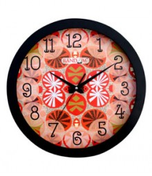 Random Modern Series Red Analog Wall Clock RC-0333-RED-ABSTRACT