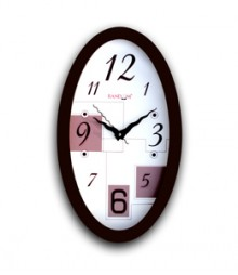 Random Oval Modern Analog Wall Clock RC-0334-Ovel-MODERN
