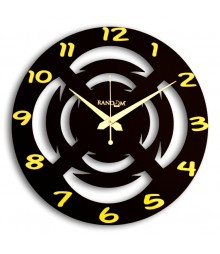 Wooden Chakra Analog Wall Clock RC-0335-BROWN