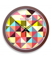 WOODY14 Chequers Analog Wall Clock RC-0359