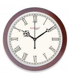 WOODY SLEEK ROMAN Analog Wall Clock RC-0360