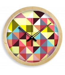 WOODEN GRACE CHEQUERS Analog Wall Clock RC-0365