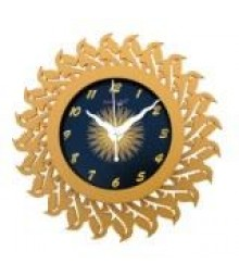 Sunflower Glass covered Analog Wall Clock RC-0376