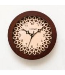 Carvy Lotus Trendy Glass covered Analog Wall Clock RC-0377