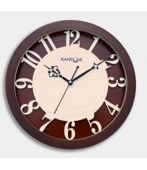 Carvy Numerals Glass Covered Analog Wall Clock RC-0381