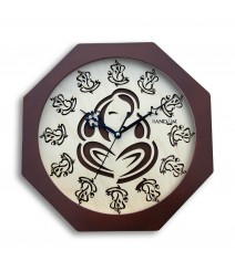 Carvy Ganesha Octy Glass Covered Analog Wall Clock RC-0382