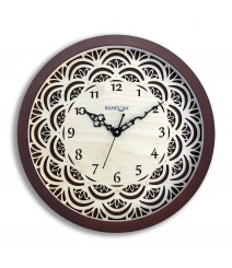 Carvy Blossom Glass Covered Analog Wall Clock RC-0384