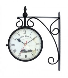Random Station Clock Analog Wall Clock RC-0413-Medium-Station-8-inch