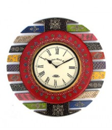 Random Indiana Paint Art Analog Wall Clock RC-0413-Rajsthani