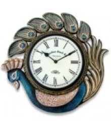 PEACOCK PUSHPAK Analog Wall Clock RC-0419
