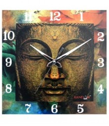 Random Sqr-04Buddha Peace Analog Wall Clock RC-0504