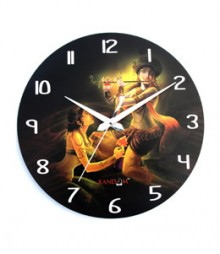 Random Radha Krishna Round Face Analog Wall Clock RC-0512