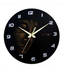 Random Buddha Dark Face Analog Wall Clock RC-0516
