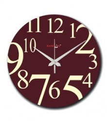 Random Digit Analog Wall Clock RC-0524