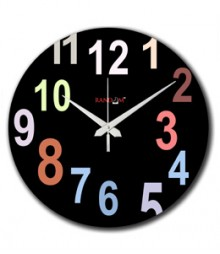 Random Colourful Numbers Analog Wall Clock RC-0525