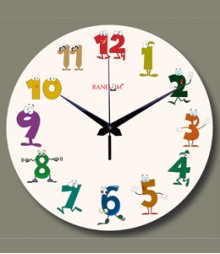 Random Cartoon Numbers Analog Wall Clock RC-0527