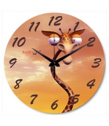 Random Cartoon Giraffe Analog Wall Clock RC-0528