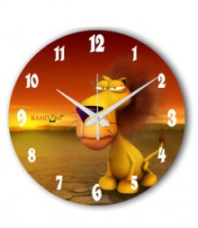 Random Jungle King Analog Wall Clock RC-0529