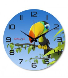 Random Wood Pecker Analog Wall Clock RC-0530