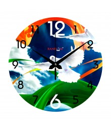 Freedom of Peace Analog Wall Clock RC-0536-Freedom-of-Peace