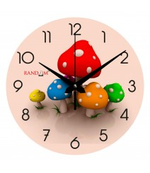 Colorful Mashroom Polymer Analog Wall Clock RC-0545