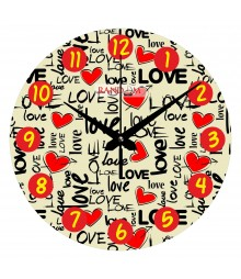 Lovely Polymer Analog Wall Clock RC-0547