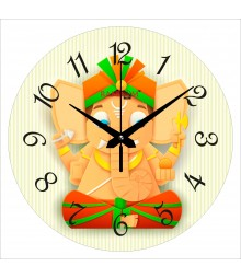 Bal Ganesha Polymer Analog Wall Clock RC-0549