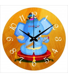 Laddoo Ganesha Polymer Analog Wall Clock RC-0550